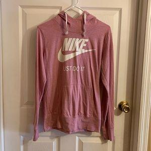 Nike light weight T-shirt sweatshirt with hood